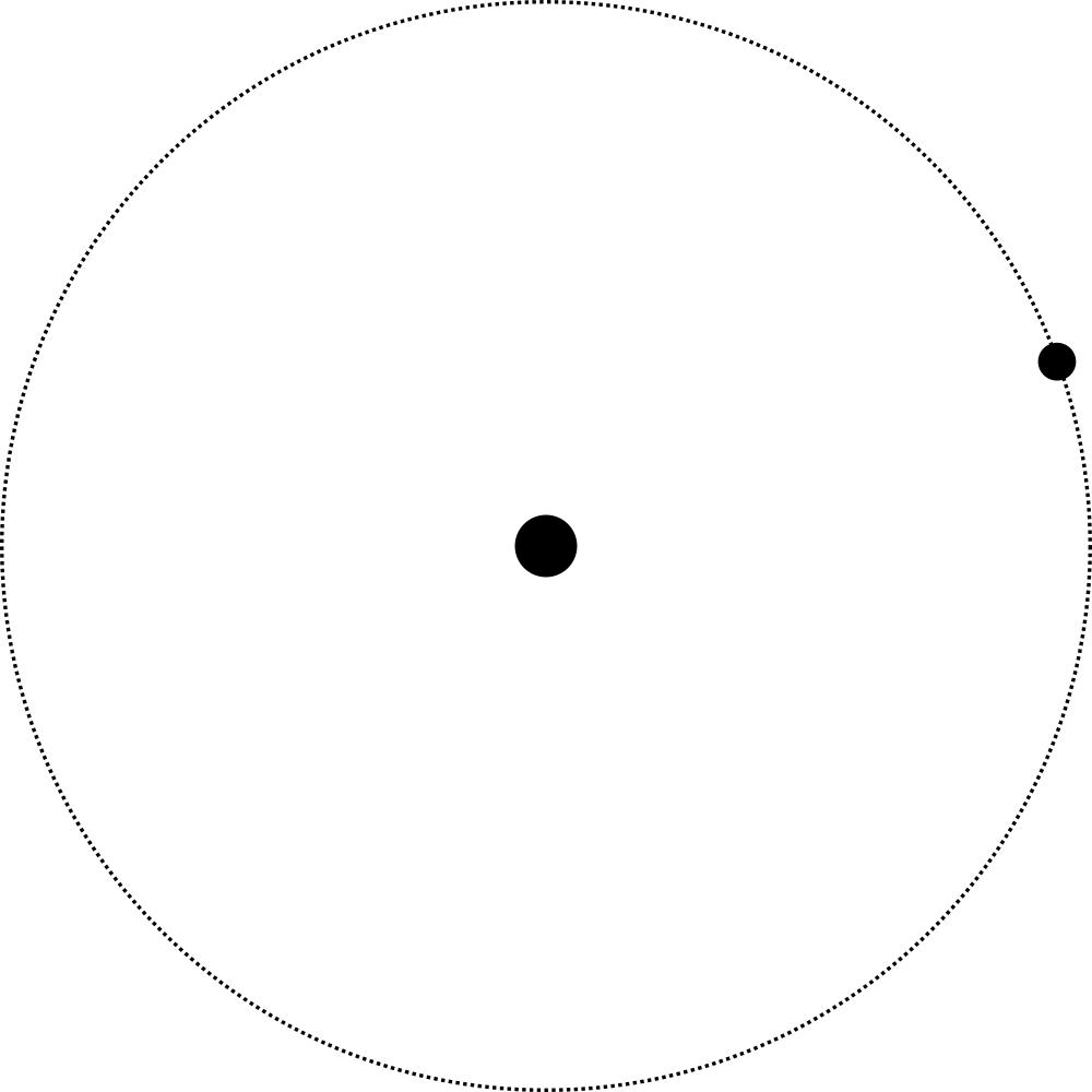 A satellite orbiting the primary